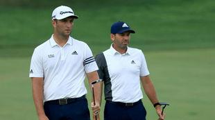 Jon Rahm y Sergio García, en The Memorial Tournament.