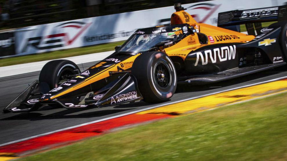 El Arrow McLaren que pilotará Alonso, aunque con otros colores.