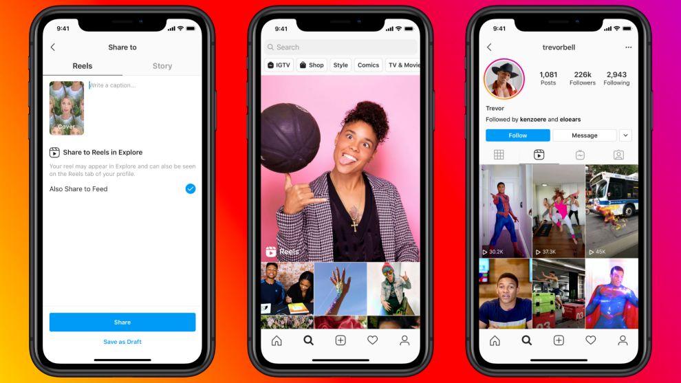 Reels, la nueva función de Instagram que pretende terminar con Tik-Tok