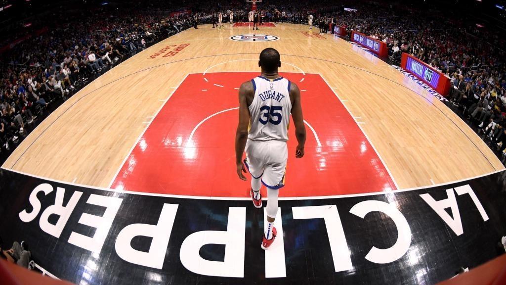 Kevin Durant, en un encuentro ante los Clippers.