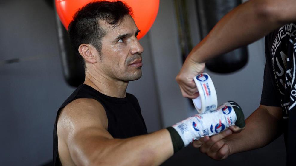 Maravilla Martínez preparando un entrenamiento