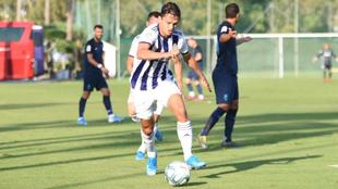 Partido entre el Valladolid y el Málaga en el Marbella Football...
