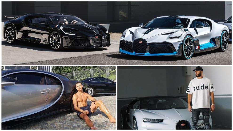Cristiano y Benzema son 'fanáticos' de Bugatti y tienen dos coches de...