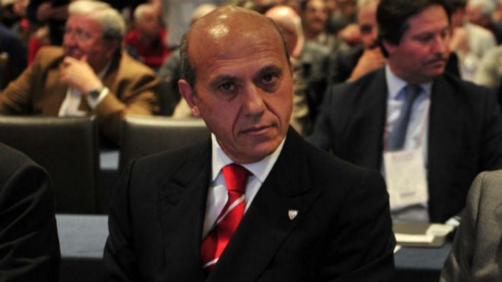 José María del Nido en la última junta del Sevilla