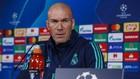 Zidane, en una rueda de prensa de Champions