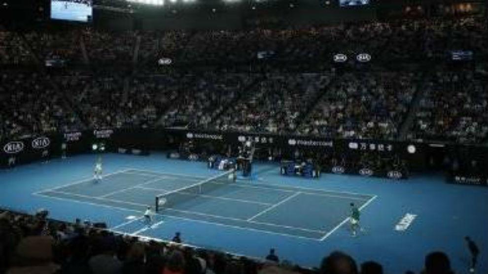 Una vista de la pista Rod Laver Arena de Melbourne