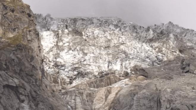 Una imagen del glaciar italiano Planpincieux.