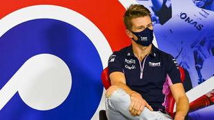 Nico Hulkenberg, en la rueda de prensa previa al GP 70 Aniversario.