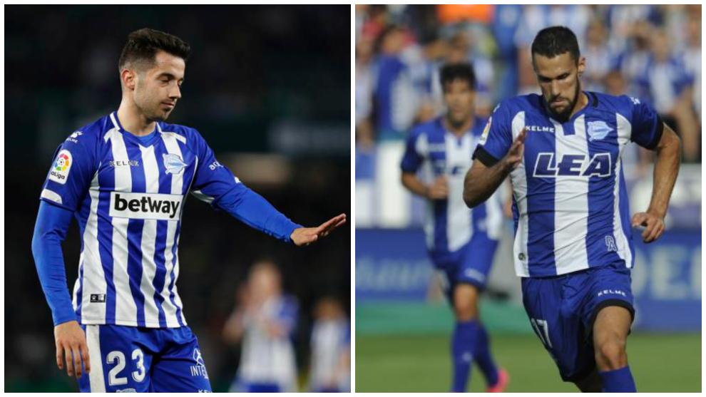 Jony Rodríguez y Alfonso Pedrada en sus etapas como jugadores del...