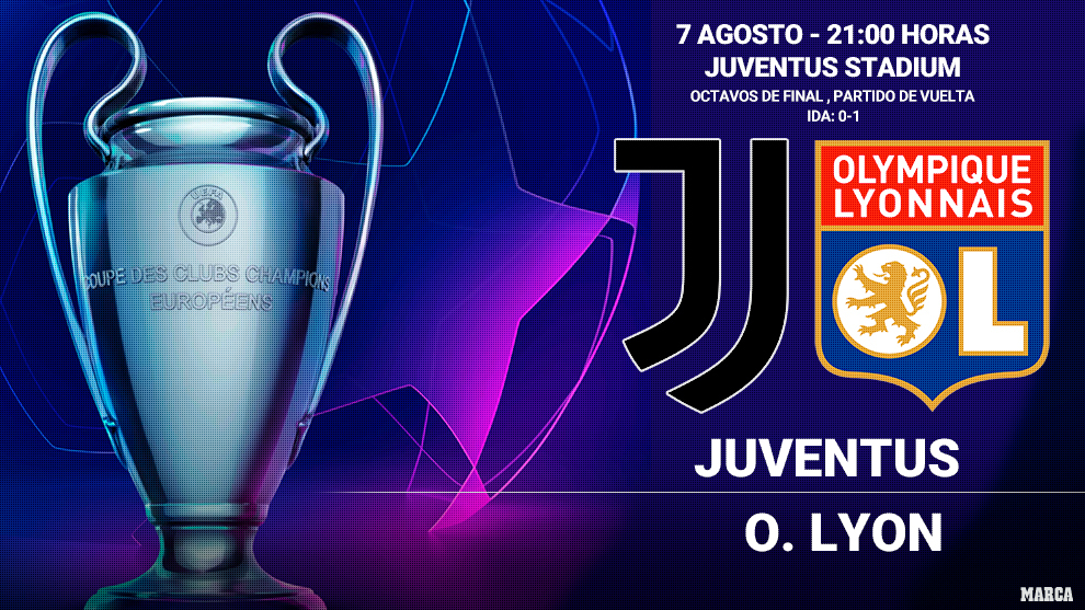Juventus - Olympique de Lyon: horario y donde ver por television hoy...