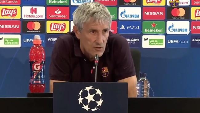 """Setién: """"No se me ha pasado por la cabeza que este sea mi último partido con el Barça"""""""