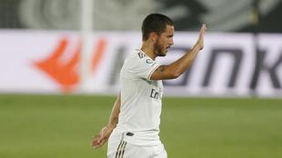 Hazard, en un partido del Real Madrid