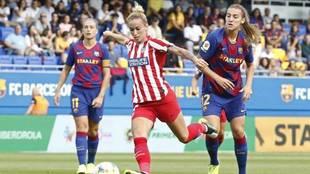 Imagen de un partido entre el Atlético de Madrid y el Barcelona de la...