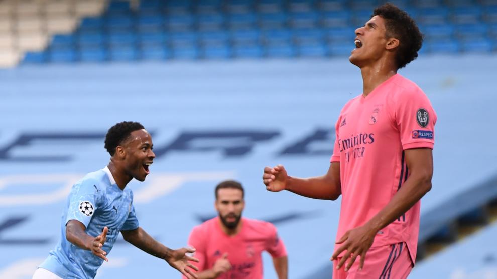 Manchester City vs Real Madrid: Increíble error de Varane: ¡Gabriel Jesús le roba el balón y Sterling marca el primero! | MARCA Claro México