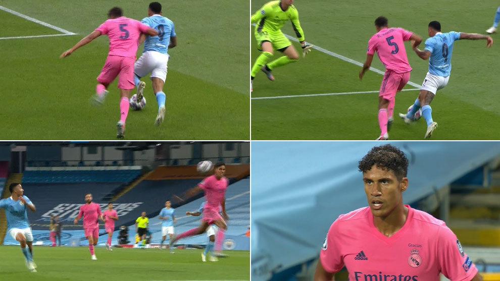 Doblete de errores increíbles de Varane: regaló los dos goles al Manchester City