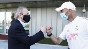 Florentino y Zidane, en Valdebebas