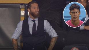 Los gestos que dejó el segundo fallo de Varane: la cara de Ramos lo dice todo...