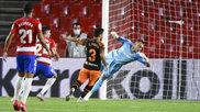 Yangel Herrera. con el Granada, en el último partido de Liga contra...