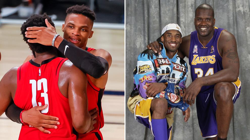 James Harden y Russell Westbrook superan ya a Kobe y Shaq