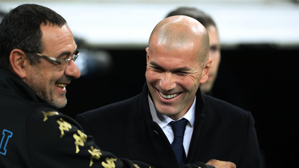 Reports in Italy claim Zidane is a candidate to replace Sarri