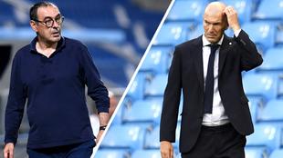 Sarri y Zidane tras los partidos de octavos de la Champios