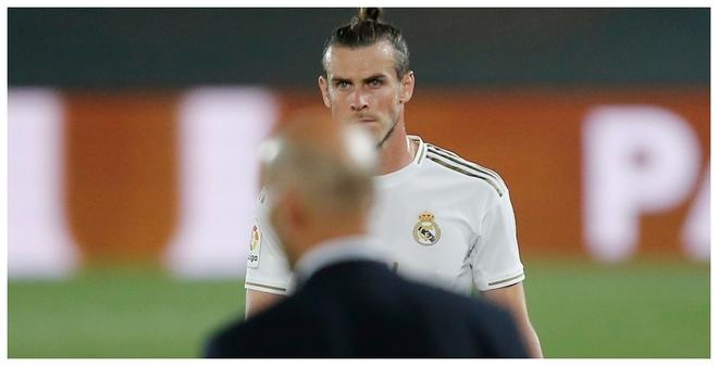 Bale y Zidane, en un partido en Valdebebas.