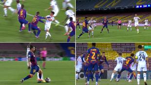 Todas las polémicas: ¿hay empujón de Lenglet? ¿Messi la toca con la mano?