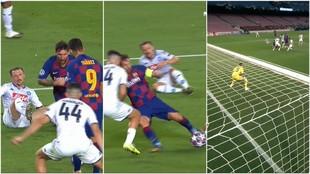 A Messi no se le puede parar: jugadón entre cuatro y remate milimétrico ante Manolas
