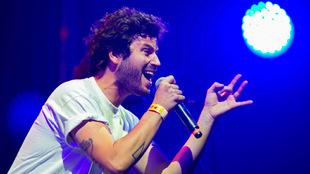 Willy Bárcenas, en una imagen de archivo durante un concierto de...