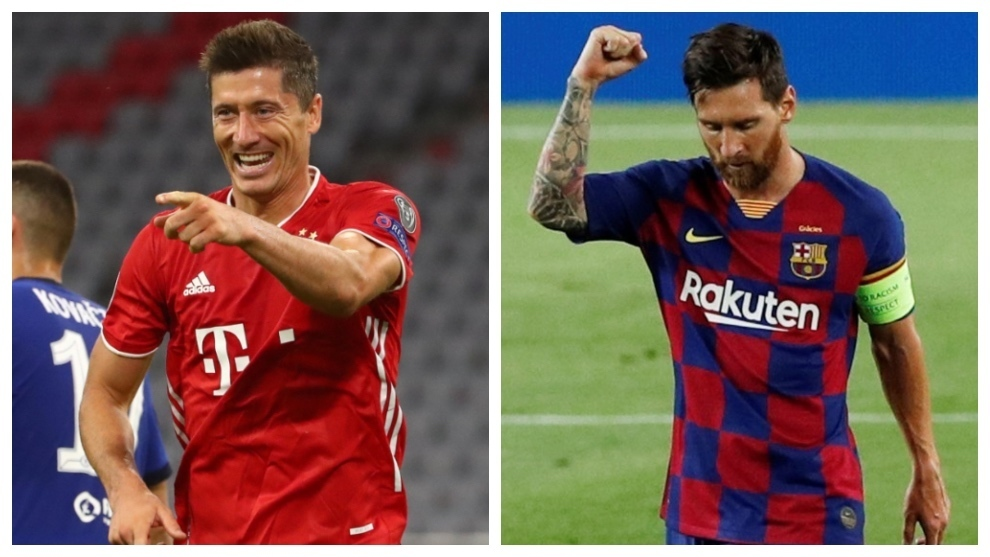 Barcelona Vs Bayern Munich The Best Lewandowski Vs The Worst Messi In The Champions League Marca In English