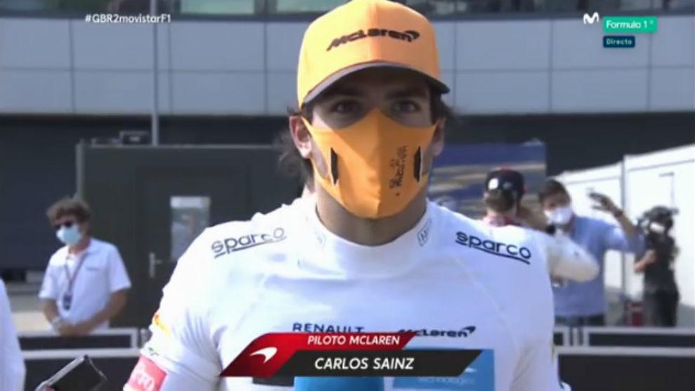 Carlos Sainz, al terminar la carrera