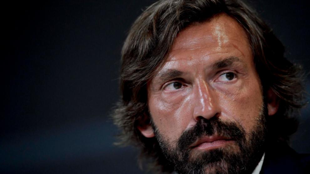 Andrea Pirlo durante su presentación con la Juventus
