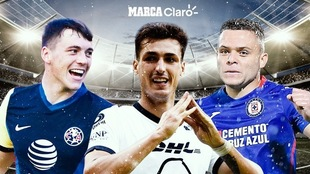 América, Cruz Azul y Pumas comandan en la Liga MX.