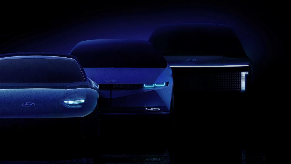 Los primeros modelos de Ioniq, la marca de vehículos eléctricos de Hyundai.