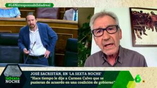 El actor defendió el Gobierno de coalición del PSOE y Unidas Podemos...