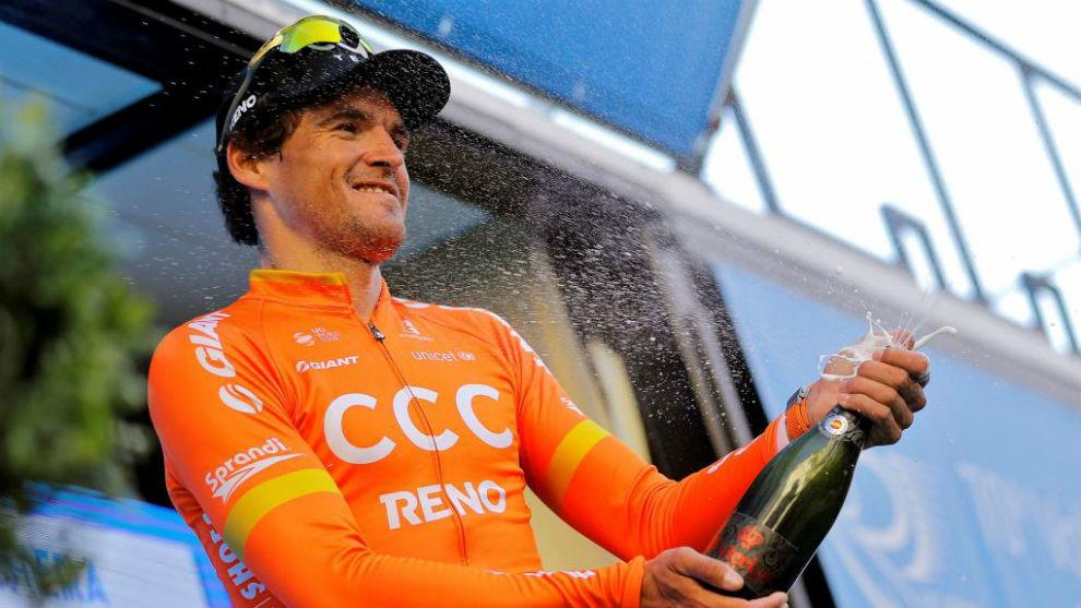 Van Avermaet, tras ganar la tercera etapa de la Volta Ciclista a la...