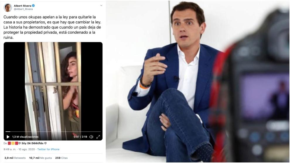 El video viral de una 'okupa', que ha indignado a Albert Rivera en...
