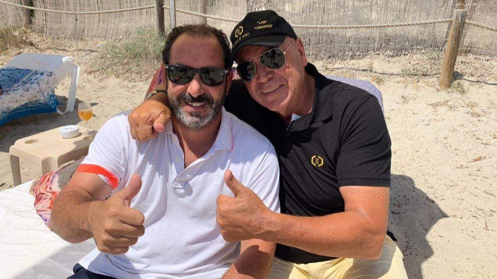 Albert Costa junto a Labi Champion