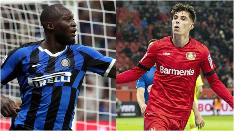Lukaku y Havertz, principales jugadores en el duelo entre Inter de...