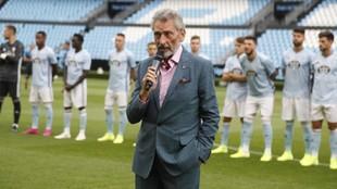 Carlos Mouriño, durante la presentación del equipo la pasada...