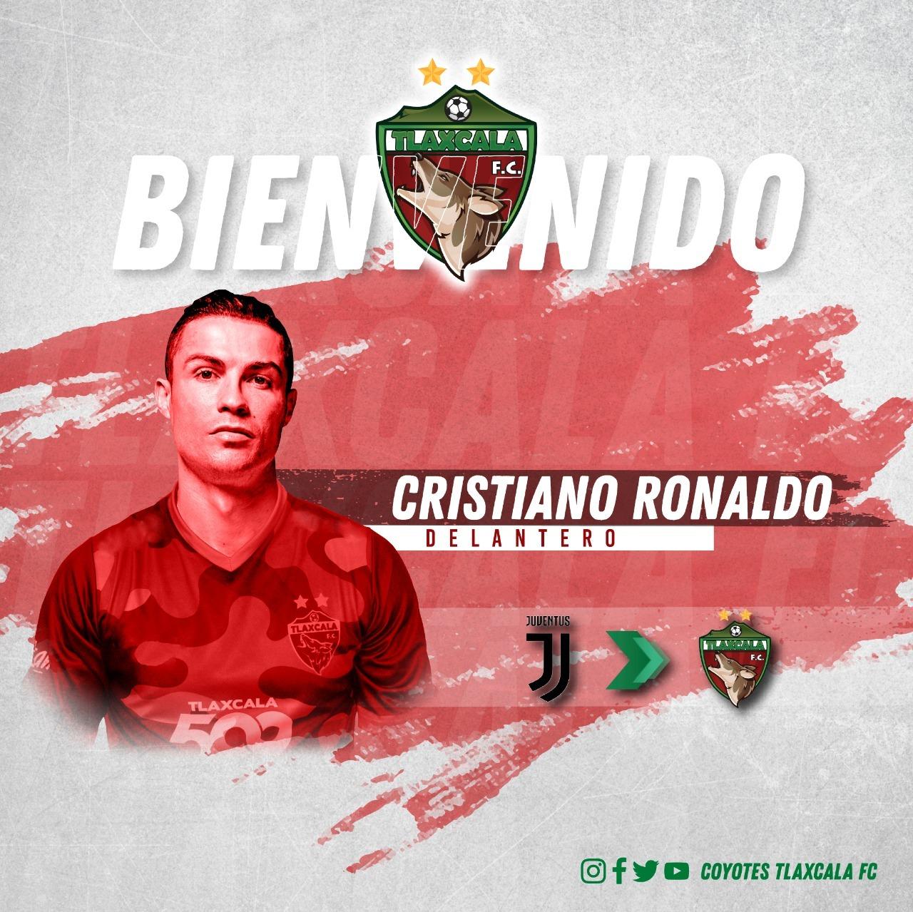 El Club Coyotes de Tlaxcala le propone a Cristiano Ronaldo fichar por...