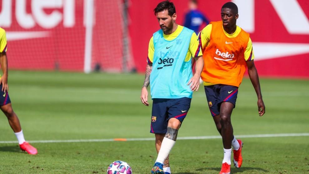 Messi, en la sesión de este martes