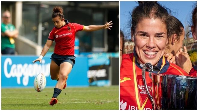 Patricia García y Laura Delgado 'Bimba', con la selección española.