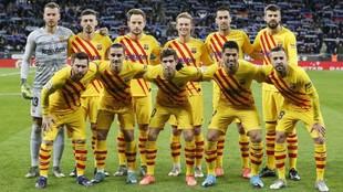 El Barcelona que se enfrentó al Espanyol.