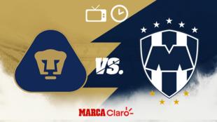 Pumas vs Monterrey: Horario y dónde ver por TV en vivo.