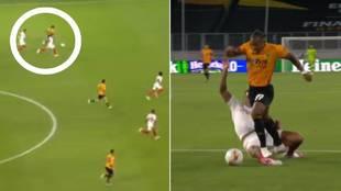 ¡Qué barbaridad, Adama! Brutal sprint: solo lo pararon con un penalti