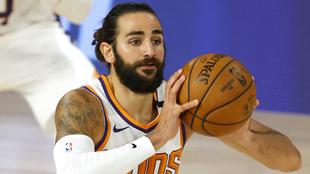 Ricky Rubio jugando con los Phoenix Suns en la burbuja de Orlando