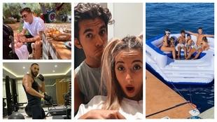 La cama acuática de CR7, el look de Ceballos, el picnic de Özil...