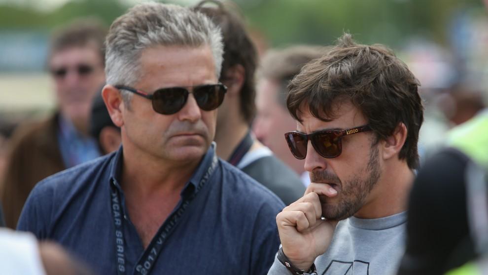 Gil de Ferran y Fernando Alonso