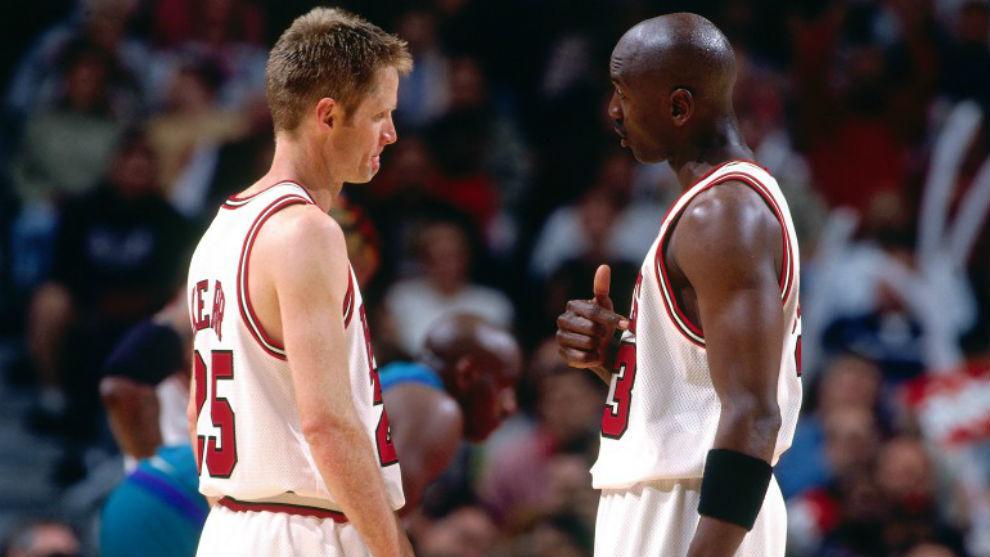Steve Kerr y Michael Jordan, con los Bulls